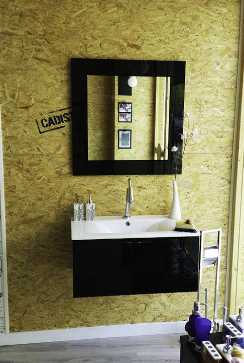 Mueble de baño blanco y negro Cadisty